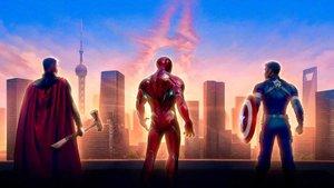 Una imagen promocional de 'Vengadores: Endgame', con Thor, Iron Man y Capitán América