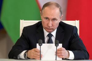 Vladimir Putin, durante una reunión en el Kremlin.