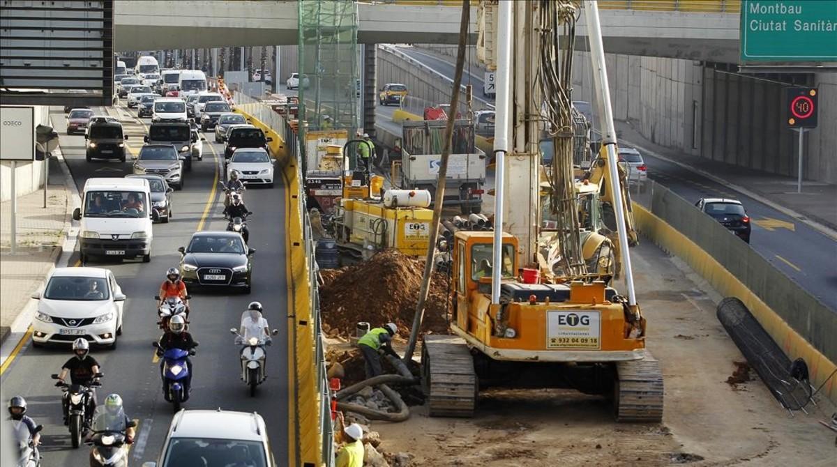 Les obres del primer tram de cobertura de la Ronda de Dalt continuaran al març