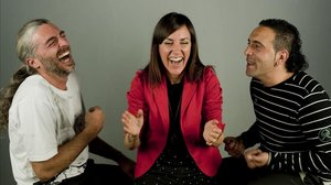 Xavi Turull (izquierda), con Paula Domínguez y Ramon Giménez.