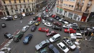 Circular rápido en la ciudad