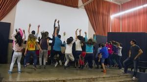 Fiesta de fin de curso en un instituto de Barcelona.
