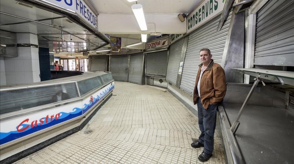 Manuel García, quien trabajó media vida en el mercado de Núria, este lunes.
