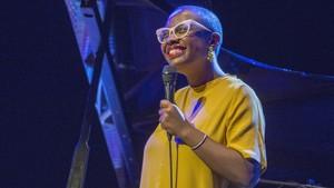 Cecile McLorin, en su concierto en la sala Barts, este miércoles.