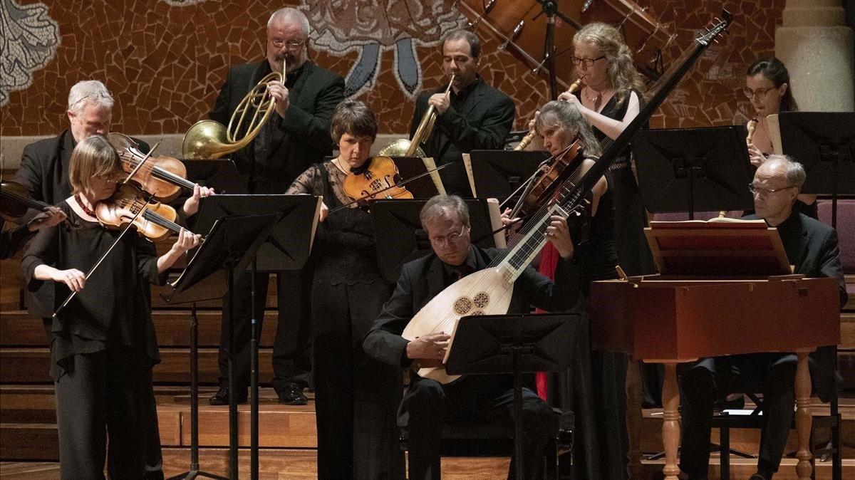 Actuación de la Akademie für Alte Musik Berlin en el Palau.