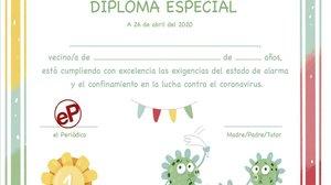 EL PERIÓDICO dona un diploma als nens. Descarrega'l aquí en pdf