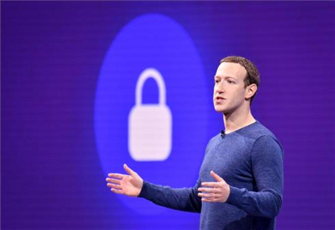 El CEO de Facebook, Mark Zuckerberg, durante una convención celebrada en 2018.