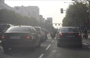 Contaminación por tráfico en la Avinguda Diagonal