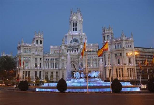 La fuente de Cibeles, en Madrid.