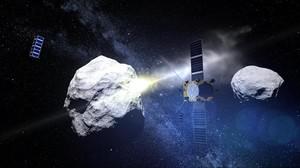 Recreación de un asteroide realizada por la NASA.