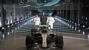 Espectacular presentación de Mercedes en Silverstone