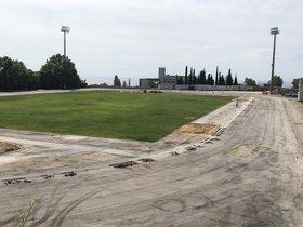 Mataró renova el paviment de les pistes de l'Estadi Municipal d'Atletisme