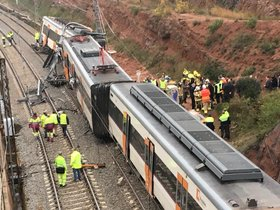 Accidente de tren en Vacarisses (Barcelona).