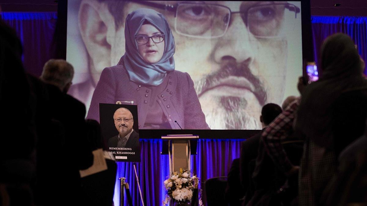 Acto de homenaje de este viernes a Khashoggi en Washington.