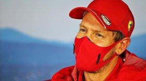 El alemán Sebastian Vettel (Ferrari), hoy, en Hungaroring.