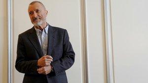 El novelista y articulista Arturo Pérez-Reverte, esta mañanaen Madrid, donde ha presentado Una historia de España.