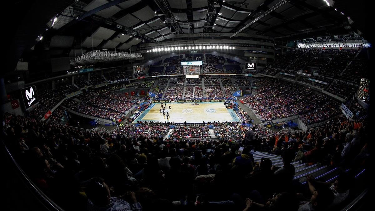 Aspecto del WiZink Center en el Movistar Estudiantes-Magec Tias.