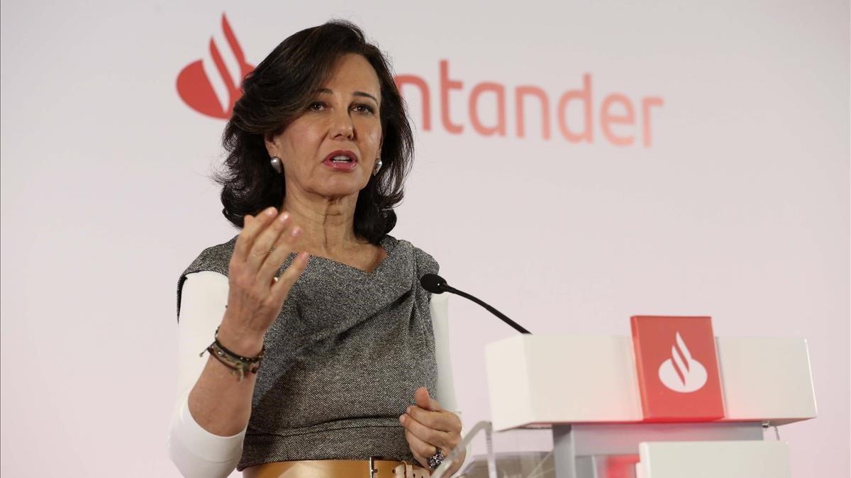 Ana Patricia Botín, presidenta del Banco Santander, en una imagen de archivo