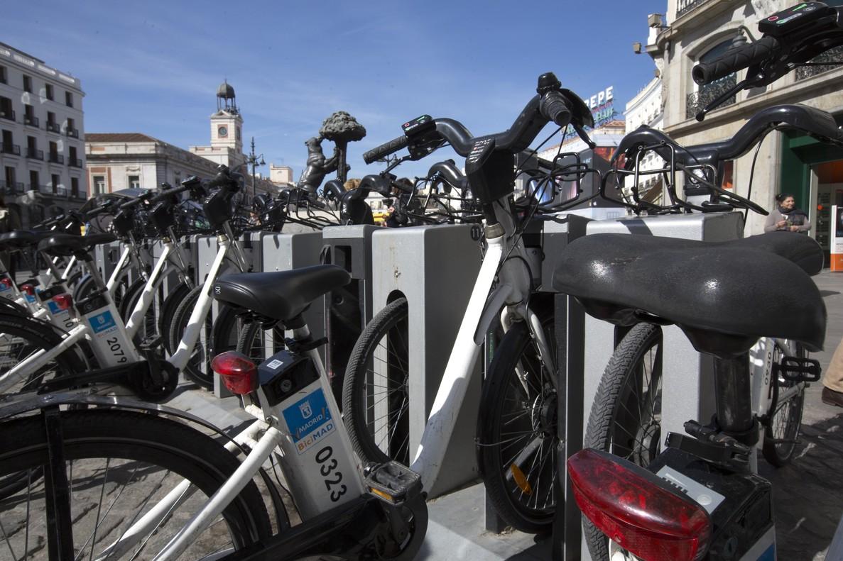 Bicimad, servicio municipal de bicicletas en Madrid.