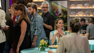 Blas Cantó, David Fernández y María Villalón en la nueva entrega de 'Masterchef Celebrity 4'.