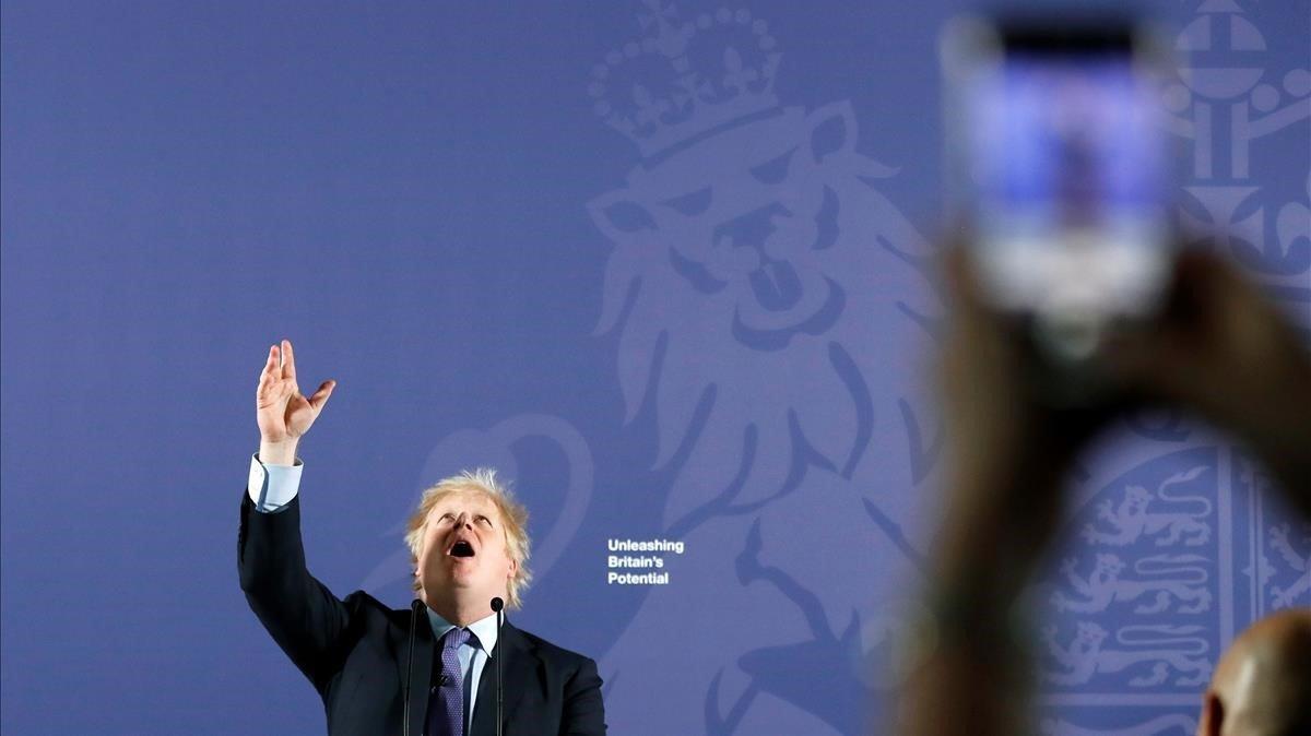 Jonhson en un acto público el lunes en laOld Royal Naval College, enGreenwich, al sureste de Londres.