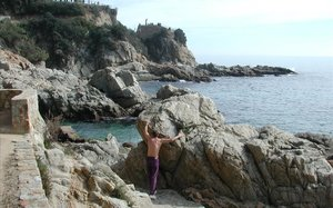 La cala Banys de Lloret de Mar.