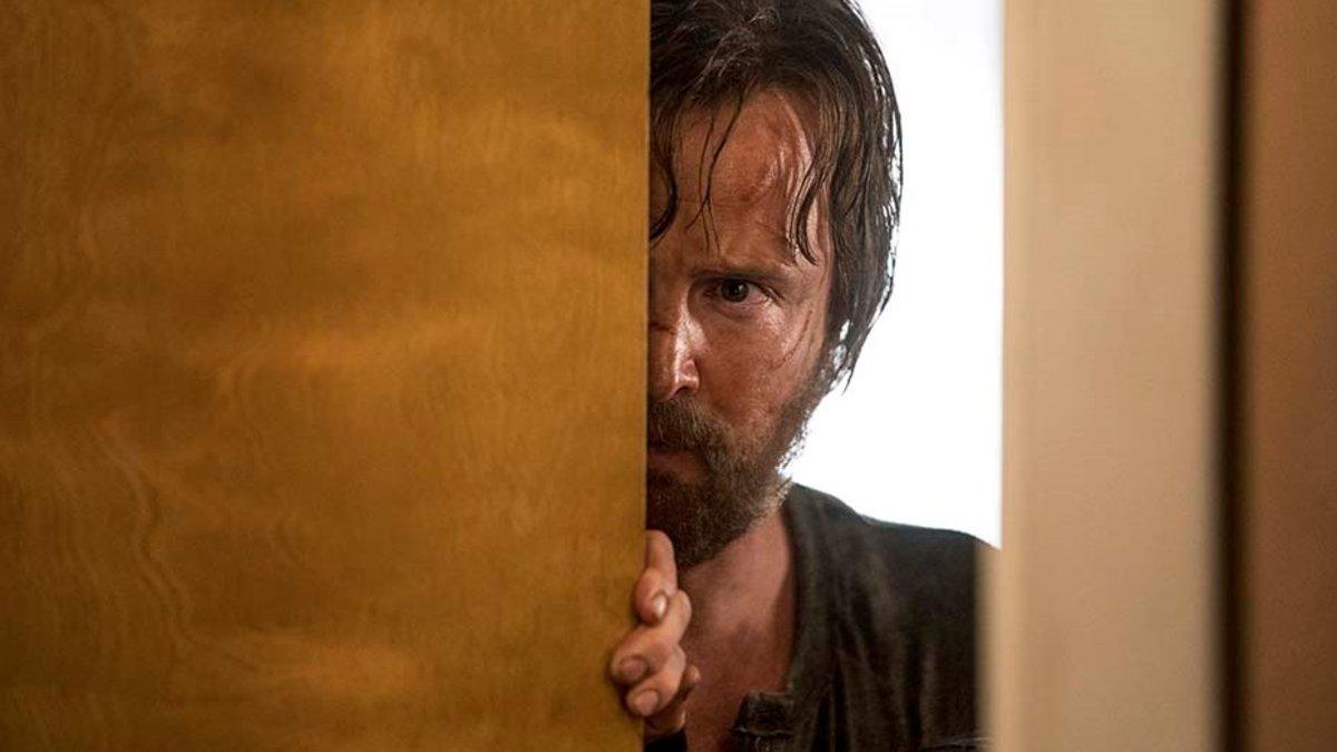 Aaron Paul, comoJesse, en 'El camino: una película de Breaking bad'.