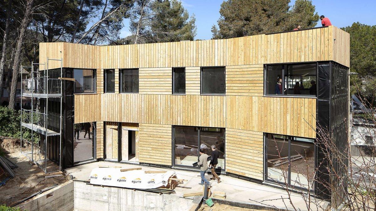 Construcción biopasiva en Castelldefels