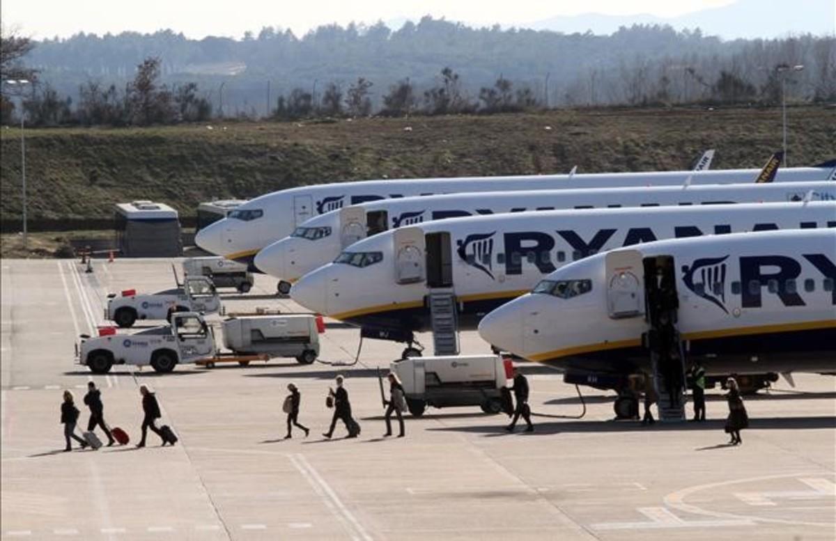 El aeropuerto de Girona, en una imagen captada en el 2011.