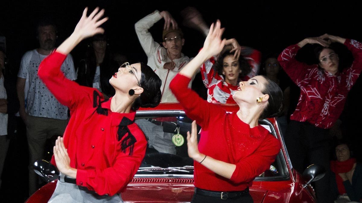 Una escena de Bologna: Pasolini de la compañía de danza La Veronal.