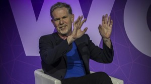 El cofundador de Netflix, Reed Hastings, en el Mobile World Congress de Barcelona.