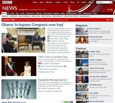 Capçalera 'BBC' es fa ressò de la coronació de Felip VI.
