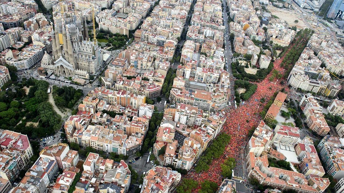 La Diagonal, durante la jornada festiva.