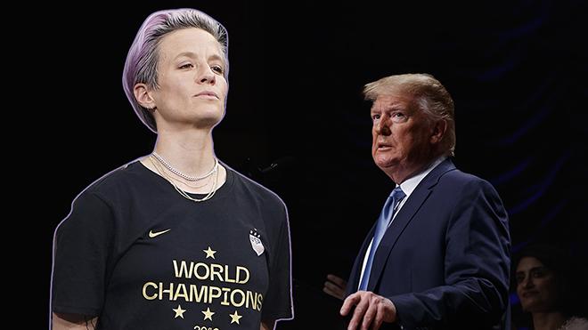 El directo mensaje de la jugadora de futbol Megan Rapinoe a Trump.