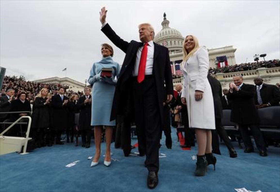 Donald y Melania Trump con Barack y Michelle Obama.