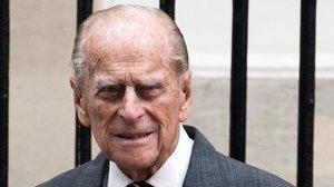Foto de archivo del duque de Edimburgo, a su salida de Canada House, en el centro de Londres, el 19 de julio de 2017.