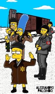Els soldats alemanys apunten a Bart quan baixa dun tren de presoners dAuschwitz.