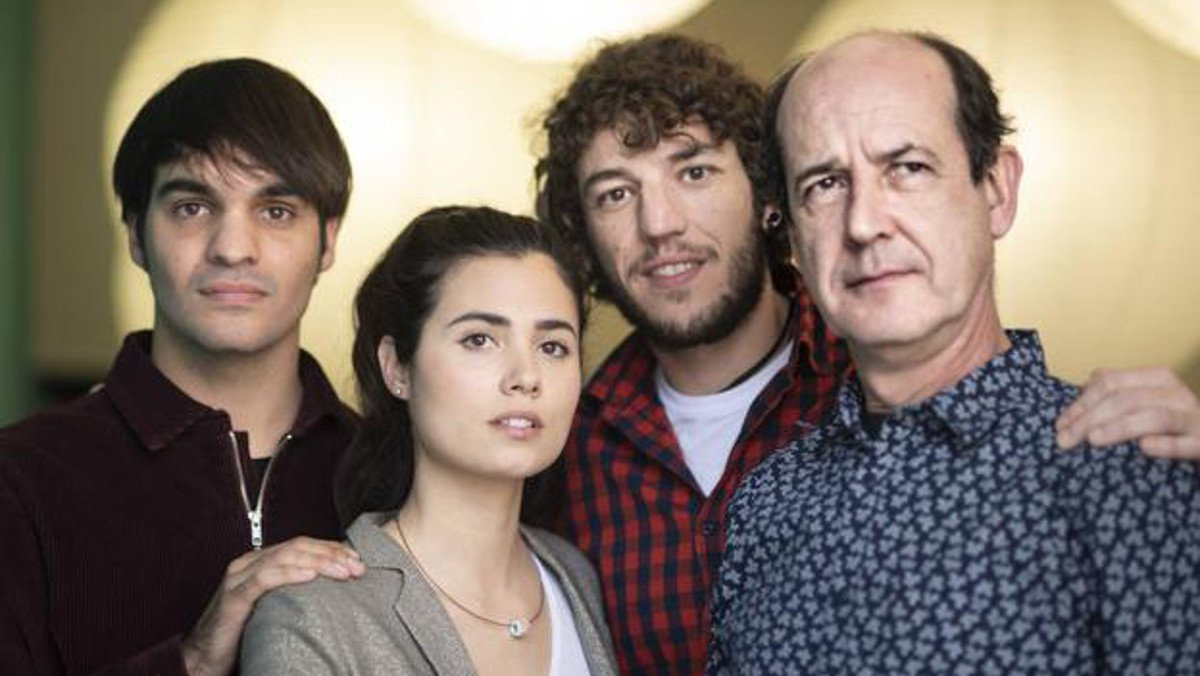 Eneko Sagardoy, Loreto Mauleón, Jon Olivares y Mikel Laskurain, la familia de Miren en Patria.
