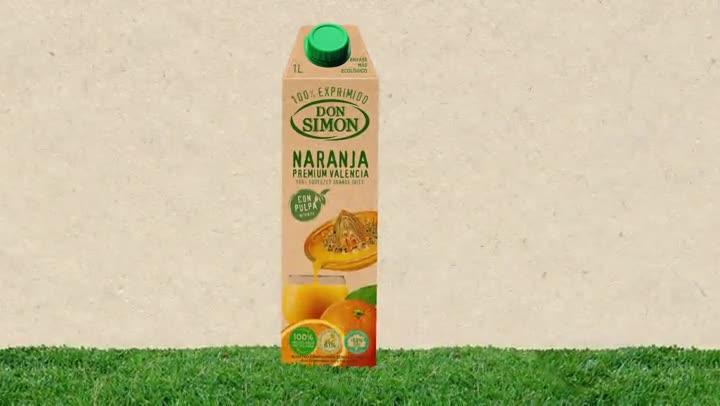 Envase eco zumo naranja exprimido