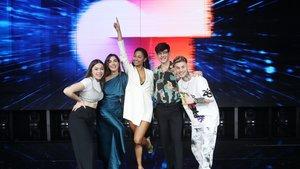 Eva, Anaju, Nía, Flavio y Hugo, finalistas de 'OT 2020'.