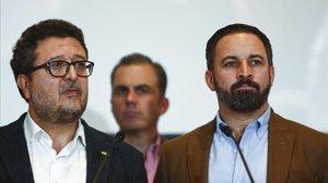 Francisco Serrano y Santiago Abascal.