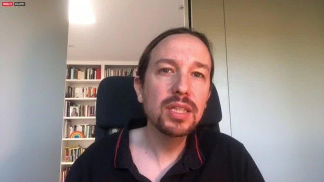 El secretario general de Podemos, Pablo Iglesias, ha advertido este sábado que hay que seguir trabajando por una salida social a la situación derivada de la COVID-19 porque, ha dicho, la crisis social se va a agravar y van a llegar momentos muy difíciles.
