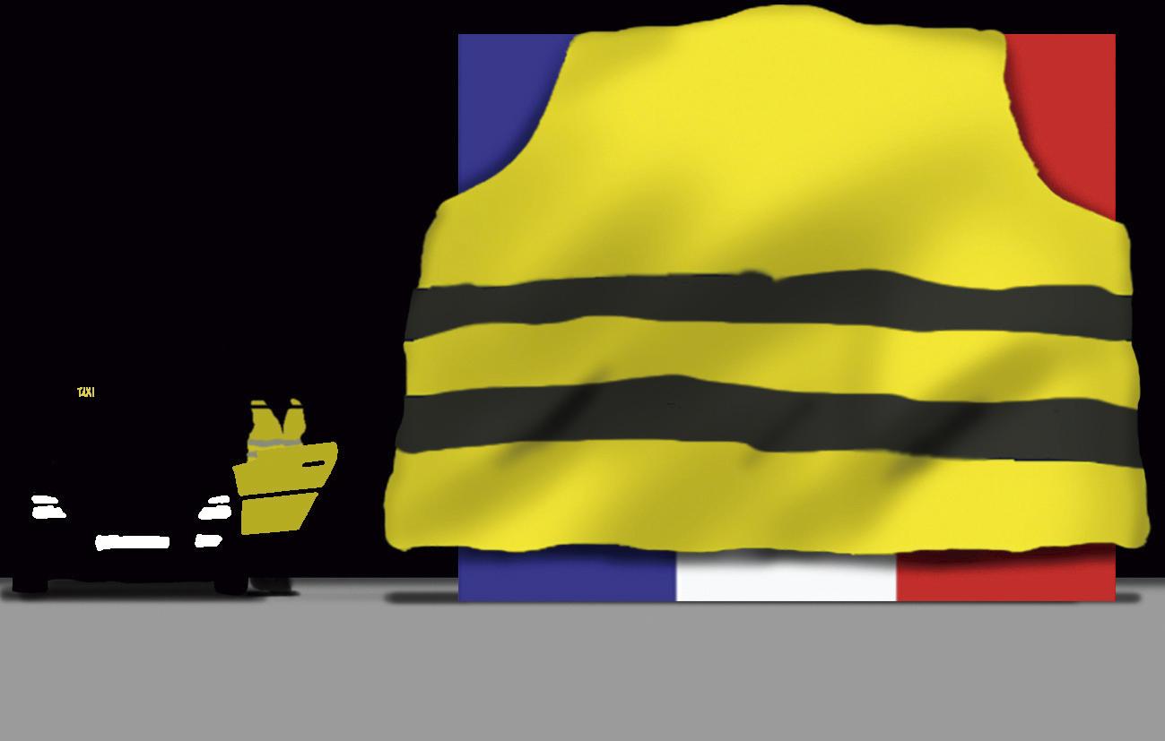 Los taxistas no son 'chalecos amarillos'