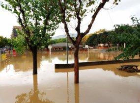 Imagen de las inundaciones de este jueves en Viladecans