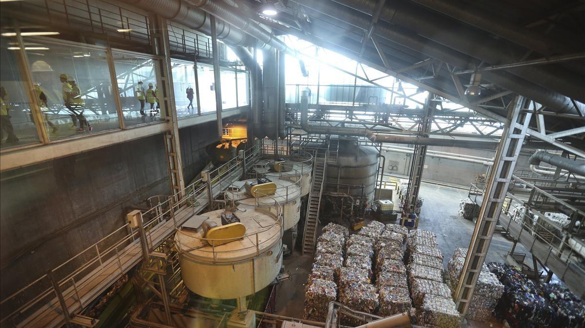 Interior de la Planta de Valoración Energética TERSA, en Sant Adrià del Besòs.