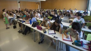 Estudiantes de la Universitat Rovira i Virgili (URV).