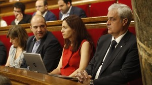 El exdiputado de Junts pel Sí,Germà Gordó, en su nueva ubiacación en el Parlament.