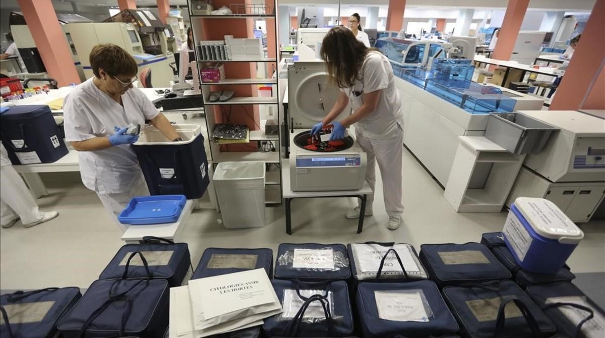 Nuevas instalaciones de análisis clínicos en el Hospital del Vall dHebron.