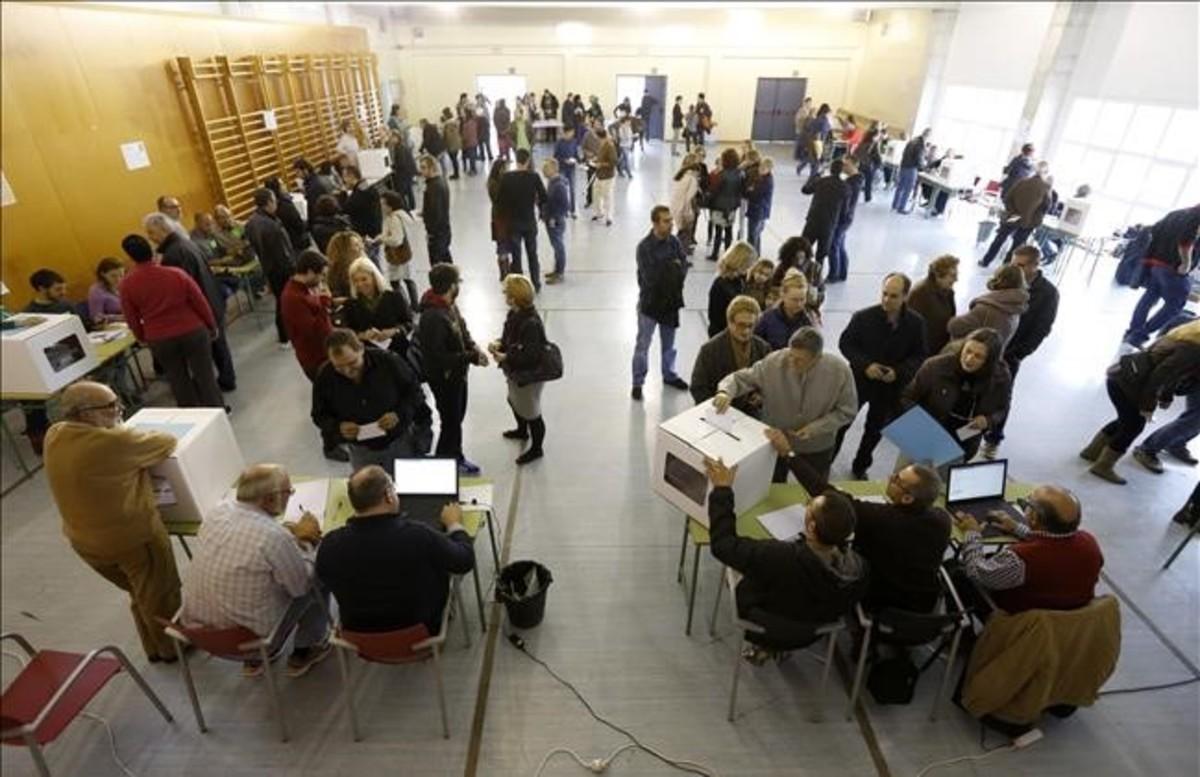 Uno de los centros de votación del 9-N del 2014.