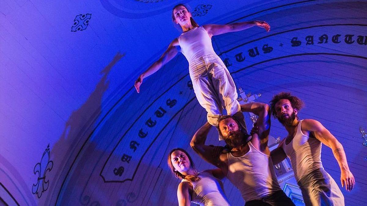 Una escena de Tabarnak, de Cirque Alfonse.